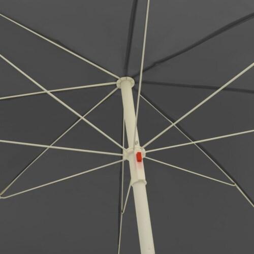 vidaXL Beach Umbrella Anthracite 94.5 Perspective: left
