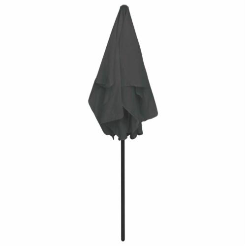 vidaXL Beach Umbrella Anthracite 70.9 x47.2 Perspective: left