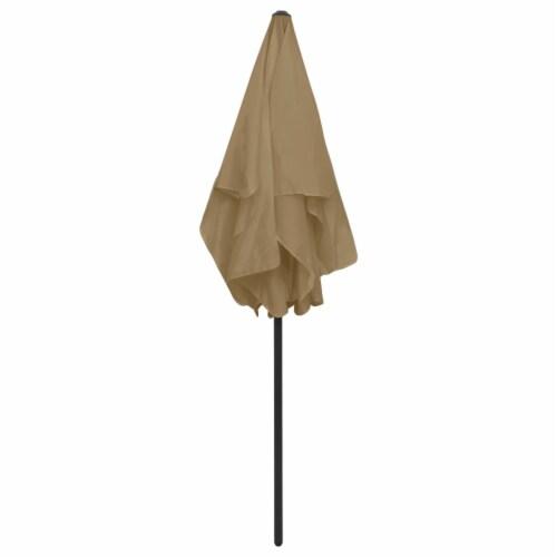 vidaXL Beach Umbrella Taupe 70.9 x47.2 Perspective: left