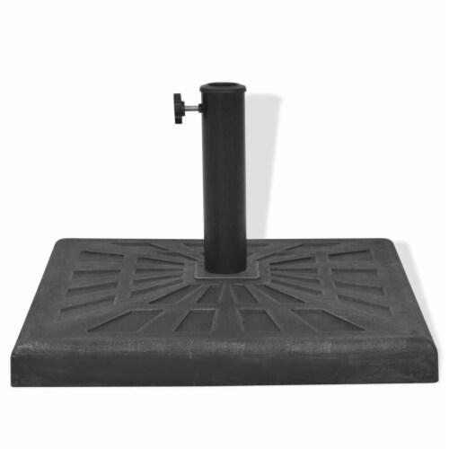 vidaXL Parasol Base Resin Square Black 41.9 lb Perspective: left