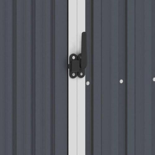 vidaXL Garden Shed Anthracite 34.3 x38.6 x62.6  Galvanized Steel Perspective: left