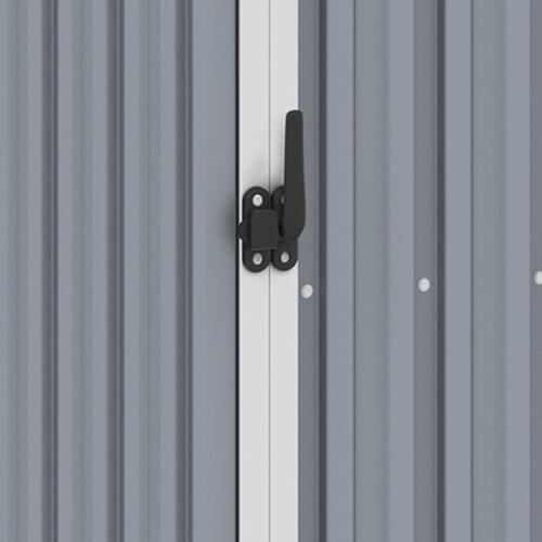 vidaXL Garden Firewood Shed Gray 96.5 x38.6 x62.6  Galvanized Steel Perspective: left