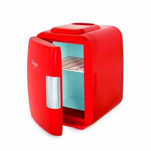 Cooluli Classic 4 Liter Portable Compact Mini Fridge - Red Perspective: left