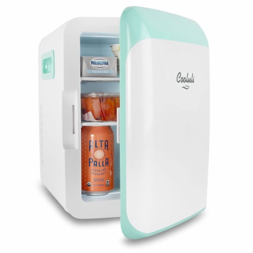 Cooluli Classic 10 Liter Portable Compact Mini Fridge - Turquoise Perspective: left