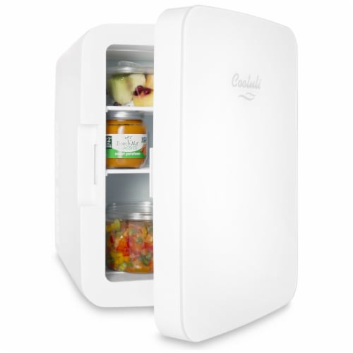 Cooluli Infinity 10 Liter Portable Compact Mini Fridge - White Perspective: left