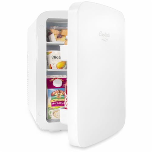 Cooluli Infinity 15 Liter Portable Compact Mini Fridge - White Perspective: left