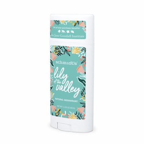 Schmidt's Lily of the Valley Aluminum Free Deodorant Perspective: left