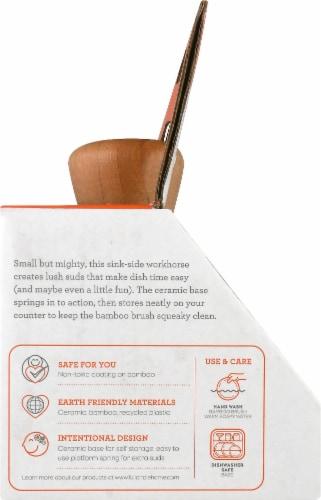Full Circle Bubble Up Soap Dispenser & Dish Brush Set - Gray Perspective: left