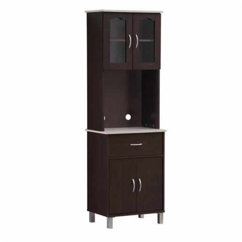 Kitchen Cabinet in Chocolate Gray - Hodedah Perspective: left