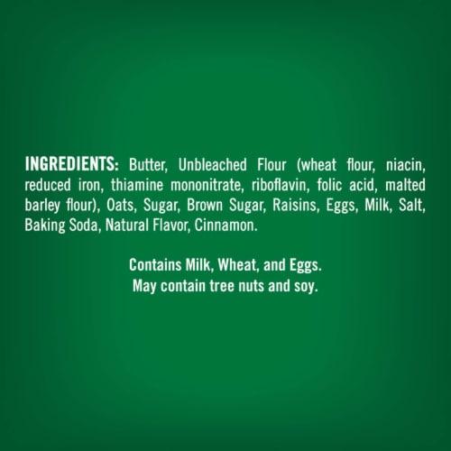 Tate's Bake Shop Oatmeal Raisin Cookies Perspective: left