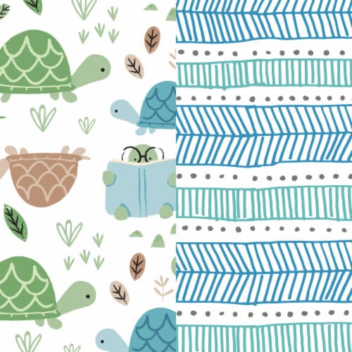 The Honest Co. Trains + Breakfast Print Size 2 Diapers Perspective: left