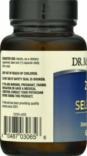 Mercola Zinc Plus Selenium Supplement Capsules Perspective: left