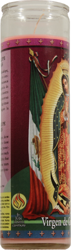 St. Jude Candle Company Virgin de Guadalupe Scented Candle Perspective: left