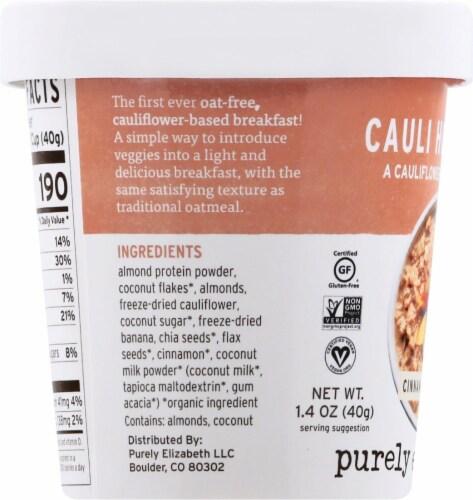 Purely Elizabeth Cinnamon Almond Cauli Hot Cereal Cup Perspective: left