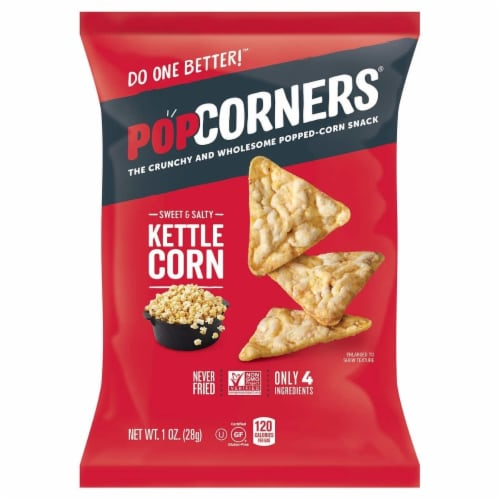 PopCorners Popped-Corn Snack, Variety Pack, 1 Ounce (28 Count) Perspective: left