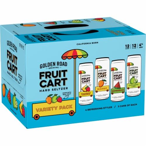 Golden Road Brewing Fruit Cart Hard Seltzer Variety Pack Perspective: left