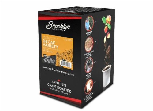 Brooklyn Beans Decaf Variety Pack Coffee Pods for Keurig K-Cups Coffee Maker, 40 Count Perspective: left
