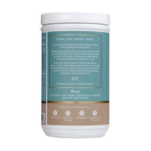 Tone It Up Vanilla Plant-Based Protein Powder Perspective: left
