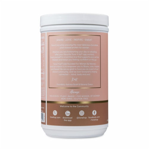Tone It Up® Chocolate Plant-Based Protein Powder Perspective: left