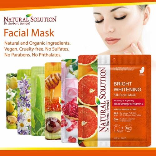 Natural Solution Facial Mask, Blood Orange & Vitamin C, Silk Mask with Pink Salt   Pack of 10 Perspective: left