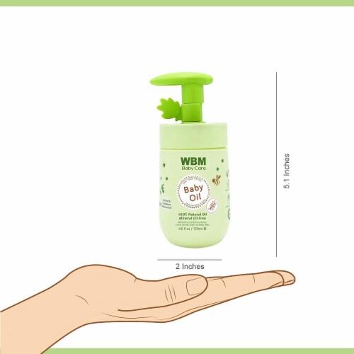 WBM Baby Care Oil, Moisturizing Body Massage Oil, 100% Natural Ingredients, Vitamin E- 4.6 Oz Perspective: left