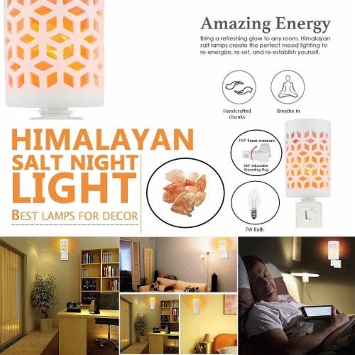 Himalayan Glow Pink Salt Lamp, Mosaic Ceramic Night Light, Wall Plug In, Rotatable | 2 Packs Perspective: left