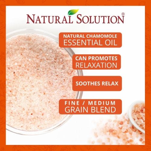 Natural Solution Bath Salt, Blood Orange & Lavender Oil Body Soak   2 Packs – 3 lbs Each Perspective: left