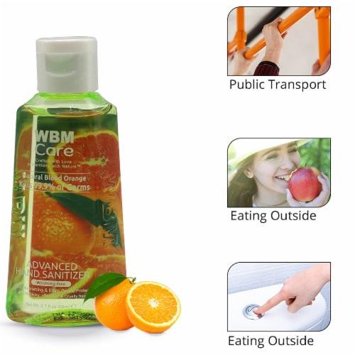 WBM Care Advanced Hand Sanitizer, Alcohol-Based, Blood Orange – Pack of 48/3.5 Oz Each Perspective: left