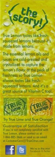 True Lemon Sweetener Perspective: left