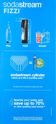 SodaStream Fizzi Sparkling Water Maker - Black Perspective: left