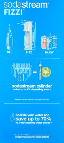 SodaStream Fizzi Sparkling Water Maker Kit - Icy Blue Perspective: left