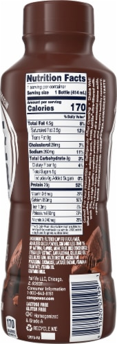 Core Power Chocolate High Protein Milk Shake Perspective: left