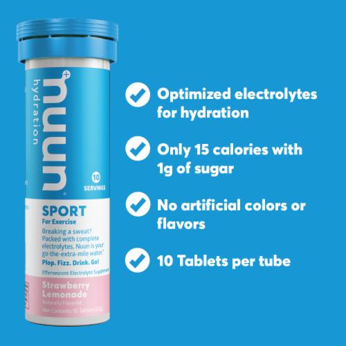 Nuun Active Citrus Fruit Beverage Enhancer Tablets Perspective: left