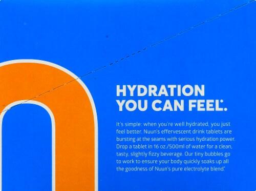 Nuun Sport Orange Flavor Effervescent Electrolyte Supplement Perspective: left