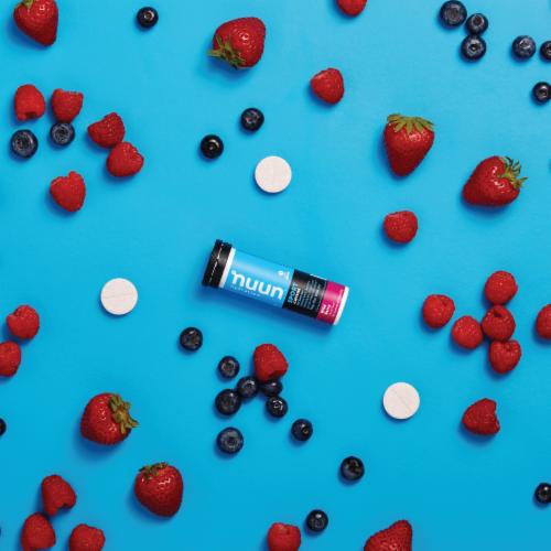 Nuun Energy Wild Berry Beverage Enhancer 10 Count Perspective: left