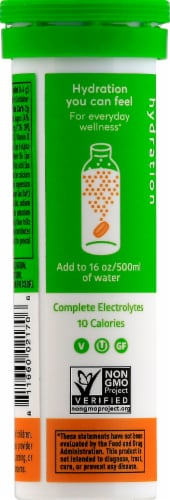 Nuun Hydration Grapefruit Orange Effervescent Vitamin Supplement Tablets Perspective: left