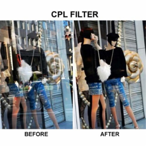 72mm Multi-coated Circular Polarizing (cpl) Filter Perspective: left