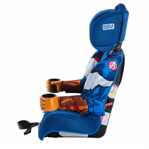 KidsEmbrace Marvel Avengers Captain America Combination Harness Booster Car Seat Perspective: left