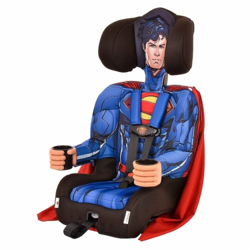 Kids Embrace DC Comics Superman Combination Harness Booster Car Seat with Cape Perspective: left