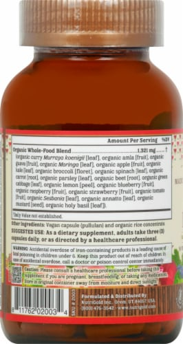 NutriGold Organic Prenatal Multi Gold Dietary Supplement Perspective: left