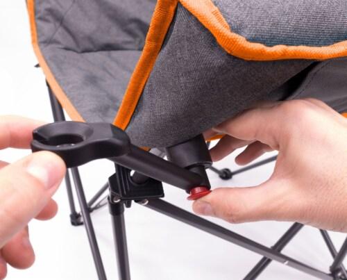Creative Outdoor Folding Bucket Wine Chair - Gray/Orange Perspective: left