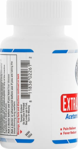AmeriPharm Extra Strength Acetaminophen Tablets 500mg Perspective: left