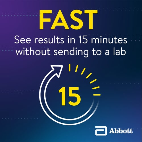 Abbott BinaxNOW COVID-19 Antigen Self Test Kit Perspective: left