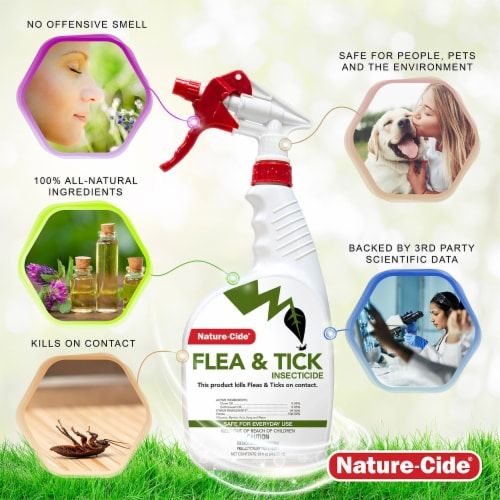 Nature-Cide Flea & Tick Insecticide - Natural Flea & Tick Spray for Dogs Perspective: left