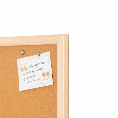 U Brands Cork Bulletin Board - Birch Perspective: left
