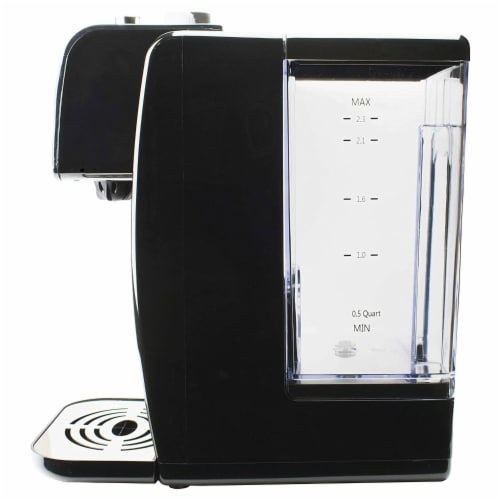 Brentwood KT-2200 2 Liter 1800w Single Touch Instant Hot Water Dispenser, Black Perspective: left