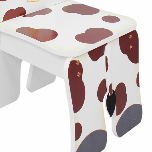 Fantasy Fields Children Kids Toddler Wooden Cow Chair (no table) TD-11324A2C Perspective: left