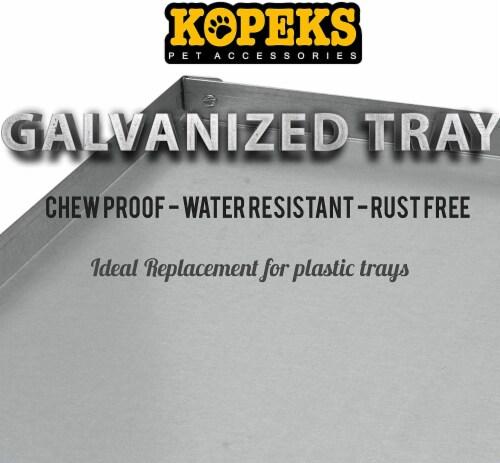 KOPEKS - Heavy Duty Multipurpose Replacement Metal Tray - Galvanized - Rust & Crack Proof Perspective: left