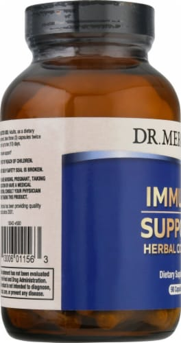 Dr. Mercola® Immune Support Herbal Complex Supplement Capsules Perspective: left