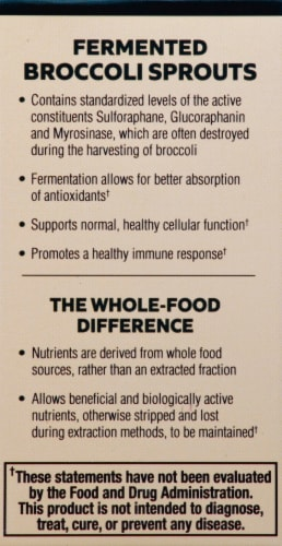 Mercola Fermented Broccoli Sprouts Capsules Perspective: left